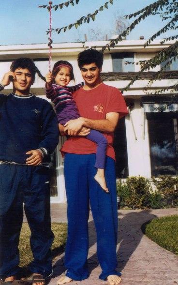 Amit and Avi holding Sana