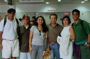 Meeting family at the ATL airport!
